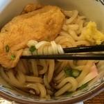 ごろびつ庵 - 麺の底には出汁醤油が。甘辛スッキリうま〜♡