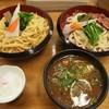 のりちゃん - 料理写真:かもの黒つけめん あいもり(ちぢれ麺&うどん) 全部のせ