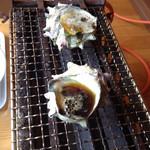 九十九里倉庫 - 料理写真:サザエのつぼ焼き 大きめサイズです@780