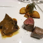 ラ・ソラシド フードリレーションレストラン - 料理写真:北海道やぎゅうさんの仔羊を2種の調理法で 雪室じゃが芋のハーブロースト添え