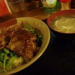 我部祖河食堂 - ソーキ丼¥700(Tax8%)