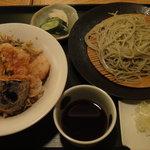 越後長岡 小嶋屋 - 冬限定 冬の海鮮天丼セット ¥1365