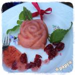 ミーシャのハーブ庭園 ブーケ ダルブル - バラのケーキ400円