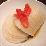 四文屋 - 大根の酢醤油100円
