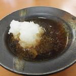 天ぷら徳家 - 天つゆに大根おろしを入れて 【 2014年5月 】