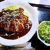 おきらく食堂 - 料理写真:オムライス陽喜亭風デミソース(ミニサラダ付き)大盛り