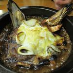 伽哩本舗 - シーフード焼きカレー1,000円。 海老・魚・ムール貝・牡蠣などが入ってます。
