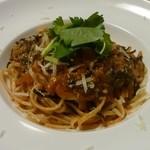 小料理屋ぎらばり - スパゲッティ(ひじきとトマトソース)