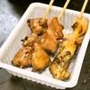 地鶏の立呑み 浅草 安兵衛 - 料理写真:やきとり5本(450円)の内、かしら、タン、ぼんじり