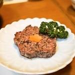 桜なべ 中江 - 馬肉のつくね(1,280円)