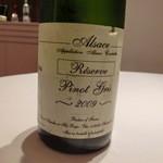 レストラン ラ フィネス - 2009 Pinot Gris Reserve Domeine Gerard Schueller