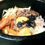 焼肉 李朝園 - 主食が選べる焼肉セット750円のハーフ石焼ビビンバ