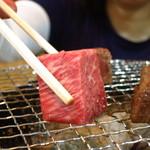 焼肉 はせ川 - A5仙台牛のヒレ肉焼き(100g)1580円