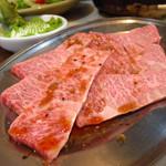 焼肉 はせ川 - 三角バラ1580円