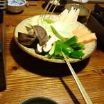 山荘 紗羅樹 - 夕飯(焼き物の野菜)