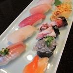 双葉寿司 - 「おまかせ地魚入にぎり」