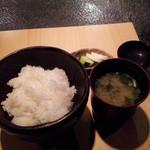 鉄板genten - ご飯と味噌汁
