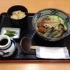 おらがそば - 料理写真:揚げ茄子と肉味噌のピリ辛冷しそば 810円