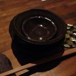 和座ダイニング 茶蔵 - お皿 オシャレです。