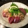 霧島地鶏 きばいやんせ - 料理写真:地鶏の刺身盛り合わせ