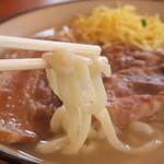 まるやす - 自家製麺。プリプリです。
