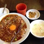 泰陽飯店 - 坦坦丼(スープ付)525円税別