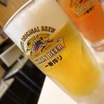 焼鳥はつらいよ - 生ビール(中ジョッキ)390円