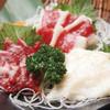 九州沖縄ダイニング 瑞ゆたか - 料理写真:鮮度抜群。熊本から直送する『馬刺し三点盛り』