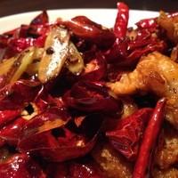 四川風・鶏の唐辛子炒め(辣子鶏)