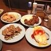 ニュー北京 - 料理写真:オムライス、餃子、とり天、肉団子揚げ
