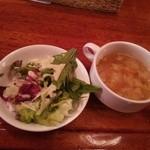 27343092 - サラダ+スープ