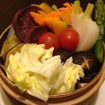 老麻火鍋房 - 深夜限定!22時以降の入店のお客様限定『 10種の野菜の蒸篭むし 』