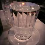てっちゃん - ホッピーセットの中(焼酎)です。表面張力限界まで注がれているのでグラスに注ぐのが大変でした!