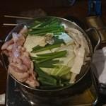 大黒堂 - 白モツ鍋(煮込む前)