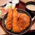 タレカツ - ヒレカツ合盛り丼