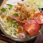 タレカツ - 追加の生野菜