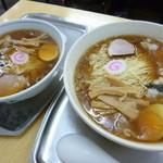大勝軒 - '14/05/19 玉1個(756円)&玉子入りワンタン麺(972円)