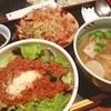 黒うさぎ - 料理写真:ランチ。ミニタコライス、ミニ沖縄そば、ミニゴーヤチャンプルのセット。
