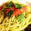 千比呂 - 料理写真:ジェノベーゼ 生ハムのせ