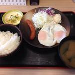 松乃家 - 140523 ソーセージエッグ定食