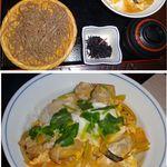 いづ味 - 親子丼セット。蕎麦処 出雲そば いづ味(東京都港区泉ガーデンタワー1階)食彩賓館撮影