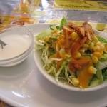 マハラジーパレス - ランチセットの、サラダ&デザート♪