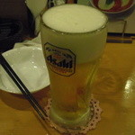 麺Dining セロリの花 - 生ビール中ジョッキ