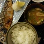27529141 - 鯖の塩焼き定食ヾ(☆o☆):香ばしく焼けていました。