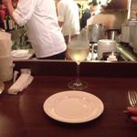 リゾットカレースタンダード - カウンターから厨房の眺め
