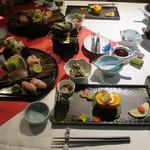 紋屋 - 料理写真:夕食全景