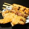 鳥喜 - 料理写真:手羽先(160円)、ハツ(120円)、皮(98円)、 地鶏ねぎま(140円)、たたき(140円)