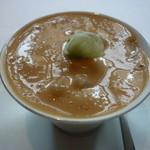 27645484 - ☆イタリアングリーンピースの茶碗蒸し淡路アオリイカ甘海老のソースカプチーノ仕立て☆