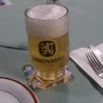 ラインガウ - 乾杯のビール。