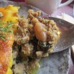 サクラカフェ幡ヶ谷 -  スパイスの香味と挽き肉の食感が楽しい☆